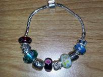 US SHIPPER Fashion Jewelry EUROPEAN Beaded Charm Bracelet 5 BEADS 5 SPACERS