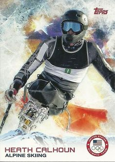 2014 Topps Winter Olympics Team HEATH CALHOUN # 13 Alpine Skiing - SET BREAK