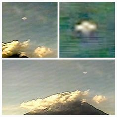 Cross UFO Caught On Live Cam Over UFO Hotspot Volcano In Mexico, Oct 29, 2013 ~ This is an amazing catch of a cross like UFO that is also caught cloaking on live cam. UFOs have been caught near around and over this volcano for many years. This particular catch was by a reader of ours at UFO Sightings Daily, who alerted us to his video he made and placed on Youtube. Outstanding catch and at this rate, it won't be long before contact is made. #Aliens #ufo #ovni