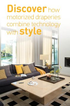 Motorized #draperies are a great way to bring a little technology into your #homedecor. Smarter than your average curtains! Click to learn more.