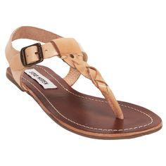 Steve Madden Swivvel Braided Flat Sandal #VonMaur