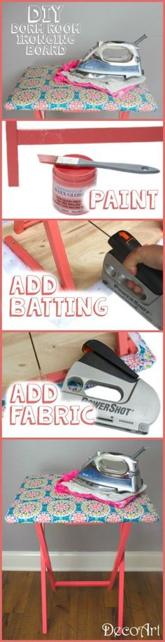 DIY Dorm Room Ironing Board - A Little Craft In Your Day
