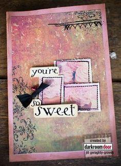 Card by Jill Van Iperen using Darkroom Door Sweet Treats Montage and Wordstrips.