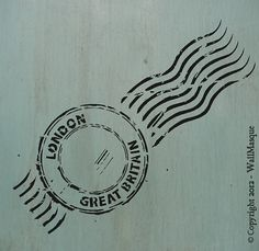 Beautiful stencils, great price! London Stamp Stencil - 4.87; x 12; via Etsy