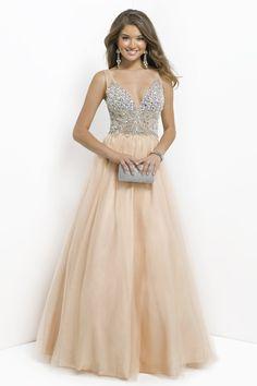 2016 Long V-Neck Sleeveless Ball Gowns Tulle Prom Dresses
