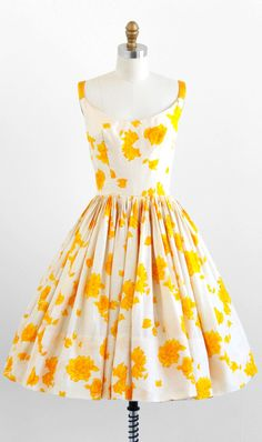 vintage 1950s dress / 50s dress / White and by RococoVintage, $324.00
