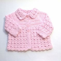 Baby girl pink outfit - 0 to 4 months girl - Baby shower gift - Crochet baby girl clothing - Infant crochet outfit - Baby pink coat set Crochet Baby Blanket Beginner, Baby Girl Bedding, Baby Coat, Crochet Baby Booties, Crochet For Beginners, Baby Sweaters, Little Dresses, Baby Month By Month, Baby Shower