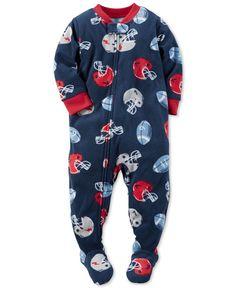 Carter's Toddler Boys' 1-Pc. Football-Print Footed Pajamas