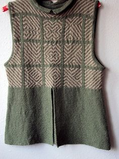 Ravelry: Shoowa Vest pattern by Marianne Isager.     A beautiful, wearable piece of clothing benefiting from the influence of the Shoowa (sp?) tribe of the Congo.