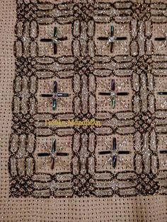 Beaded Embroidery, Cross Stitch Embroidery, Embroidery Designs, Drawn Thread, Chicken Scratch, Point Lace, Punch Needle, Hobbies And Crafts, Plastic Canvas