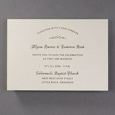 When your wording is laser cut on a gold shimmer wedding invitation, it will be easy for guests to see your exquisite wedding style. A tiny design adds sweetness.