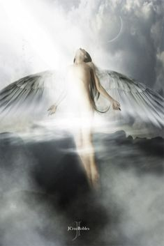 angelous by jcruzrobles Angel Wings Art, Angel Art, Angel Images, Angel Pictures, Beautiful Fantasy Art, Beautiful Fairies, Angels Among Us, Angels And Demons, Gothic Angel
