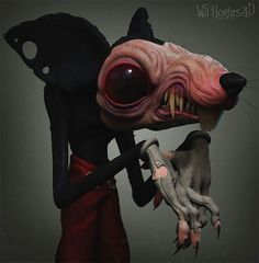 Today we are posting a brilliant work of a brilliant artist, Wil Hughes- The best artist. Wil Hughes is a very good artist from Australia. We have posted a bit of his art but you can find more of them here. Cartoon Kunst, Cartoon Art, Cartoon Characters, Cute Characters, Creepy Disney, Disney Horror, Arte Horror, Horror Art, Miki Mouse