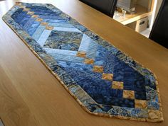 French braid quilt table runner