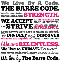 At Barre Bee Fit, we live by a code.