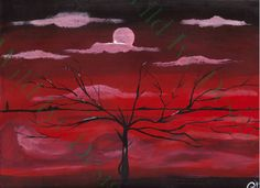 Dreaming Red 8x10 Painting by TheRustyGoblin on Etsy