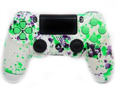 """""""Green Alien Blood"""" Glow in the Dark Rapid Fire Custom Modded Controller 35 Mods COD Ghosts Quick Scope Auto Run Sniper Breath and Cool Ps4 Controllers, Ps4 Controller Custom, Playstation Consoles, Playstation Games, Control Ps4, Nintendo Switch Accessories, Ps4 Headset, Destiny Game, Ps4 Skins"""