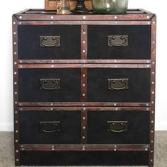 s we couldn t believe these started as ikea rasts, painted furniture, repurposing upcycling, This Trunk Style Secretary Desk