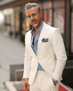 Swipe right and comment below which look is best 1 2 3 4 5 or Fo Blazer Outfits Men, Stylish Mens Outfits, Der Gentleman, Gentleman Style, Designer Suits For Men, Man Dressing Style, White Suits, Herren Outfit, Mens Fashion Suits