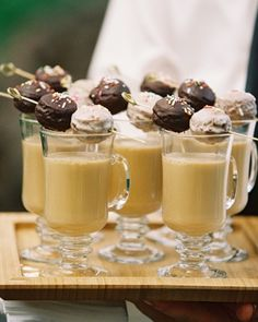 Doughnut holes and coffee for the reception. DIY Weddings | Martha Stewart Weddings