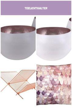 Madras Windlicht grau rosegold Xl klein Gift CompanyGift Company Wohnaccessoires Rosegold Teelichthalter