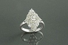 2.00Ct Round Cut VVS1/D Diamond Cluster Engagement Ring 14K White Gold Finish | eBay