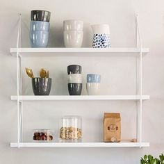 Anna considers the wall-mounted shelves rather elegant - what do you think? Wall-mounted shelves, available in two models. In stores now! Prices from DKK 179,00 / EUR 26,38 / SEK 249,00 / NOK 267,00 / ISK 5124 / GBP 23.24 Get your own copy of the sisters
