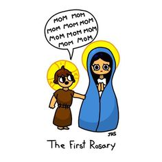"""Catholic Imagery on Instagram: """"The Holy Rosary actually goes all the way back to the First Holy Family... """""""