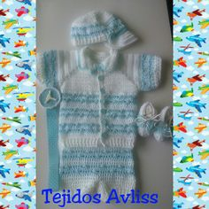Ropa de bebe varon a crochet