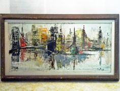 mid century cityscape paintings - Bing images