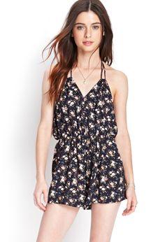 Forever21 Combishort Fleuri Style Dos Nu   Femmes - Vêtements - Combinaisons