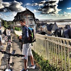 aj6544 Cycling, capturing and touring with @ faz3 isn't that fun guys???? In amazing #Deauvill #Franc