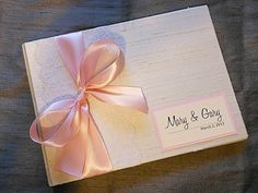 Ivory and Light Pink Wedding Guest Book