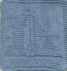 Free Knitting Pattern - Dishclothes & Washcloths : Knitted Sailboat Cloth