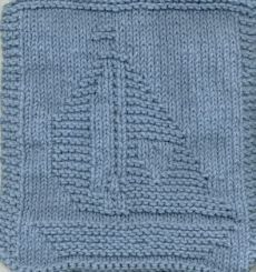 Free Knitting Pattern - Dishcloths & Washcloths : Knitted Sailboat Cloth