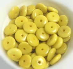 Tagua  Mustard Color Rondelle Beads 12mm, Qty: 25, craft supplies, jewelry supplies,  ecofriendly beads, natural beads, handmade beads,tagua