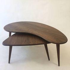 0906a3813c70 Nesting Kidney Bean + Guitar Pick Coffee Tables - Mid-Century Modern -  Atomic Era