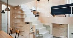 Compact Japanese home doubles as a bakery : TreeHugger - love the integrated joinery