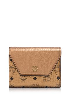 MCM Love Letter Visetos Small Trifold Flap Wallet   REEBONZ THAILAND saved by #ShoppingIS