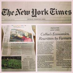 #newyorktimes #specialtycoffee #thrivefarmers #farmerdirect #knowwhogrows
