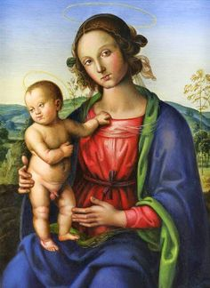 Pietro Perugino (Italian painter, 1446–1524), Madonna and Child