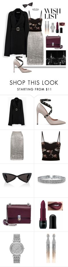 """Elegant"" by liza-aksutina ❤ liked on Polyvore featuring Valentino, Rachel Zoe, La Perla, Yves Saint Laurent, Bling Jewelry, Fendi, NICKA, Michael Kors and Oscar de la Renta"
