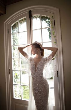 Magdalena Frackowiak pose for Berta fall 2016 wedding dresses