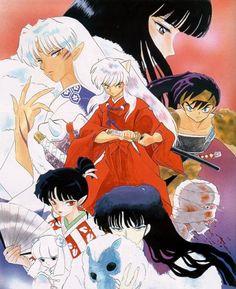 Inuyasha, Kikyo, Sesshomaru, Kagura, Naraku, Onigumo and Koga