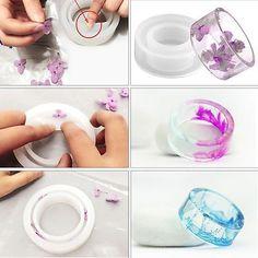 Anillo de Joyería de fundición molde de resina que Anillos Moldes Silicona herramientas de mano artesanal