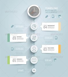 Timeline Infographic PSD, AI, EPS Template #design Download: http://graphicriver.net/item/timeline-infographic-template/8716932?ref=ksioks