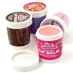 ice cream flavored lip balm
