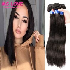 Cheap Human Hair Extensions, Buy Directly from China Suppliers:4Bundle Peruvian…