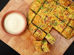 Spanish Tortilla with Broccoli, Chorizo, and Onion | 101 Bite-Size Party Foods