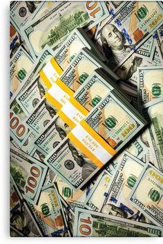 Cash Discover 100 Dollar Bill - Money Canvas Print by rocklanone Ways To Earn Money, Money Saving Tips, Make Money Online, How To Make Money, Money Images, Money Pictures, Money Pics, Cash Money, Money Bank